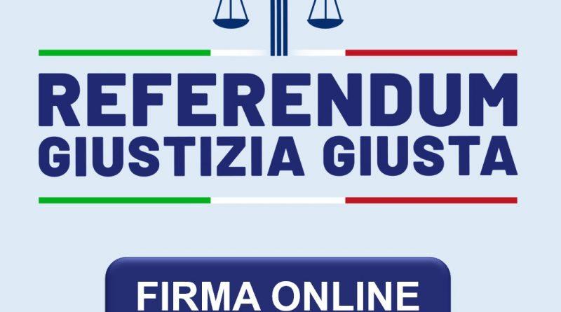 Firma on line per i referendum sulla giustizia giusta.